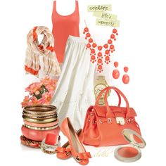 """""""Casually Coral"""" by shuchiu on Polyvore"""
