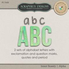 Inner Beauty | Alpha :: Alpha's & Fonts :: Memory Scraps