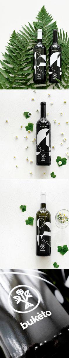 Buketo Combines Wine & Abstract Art — The Dieline | Packaging & Branding Design & Innovation News
