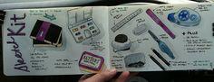 My travel sketch kit by Michelle George, via Flickr