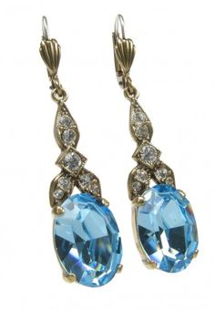 Belle Epoque earrings -  aquamarine