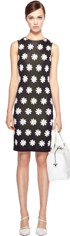 #Alice & Olivia Dee Daisy Summer Fitted Dress