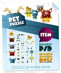 Pet Puzzle - Character Creation Kit $5.00