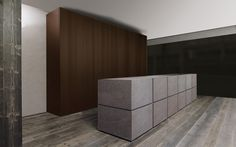 The Minotti Terra cucine in dark stone. | Interieur | keuken ...