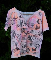 Graffiti Tee ....great idea, but I would go with VERY different stencils.