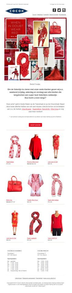 "Cocon-utrecht.nl - Stoere Valentijns mail: ""When in doubt wear red"""