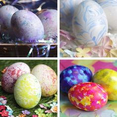 5 Creative Ways To Dye Eggs #easter #DIY #hacks #holiday #decorating