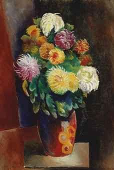 'Fleurs' (1919) by Moïse Kisling