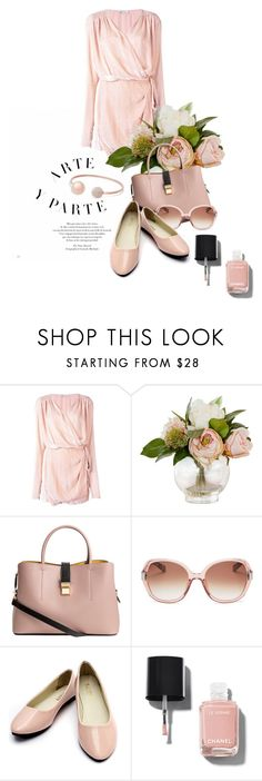 """""""Untitled #10317"""" by queenrachietemplateaddict ❤ liked on Polyvore featuring Attico, Bobbi Brown Cosmetics, Chanel, Michael Kors and Pink"""