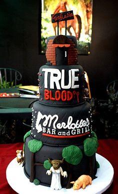3 tier locations True Blood cake