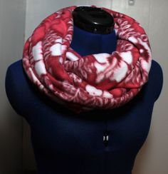 Hot Pink Hibiscus Infinity Scarf