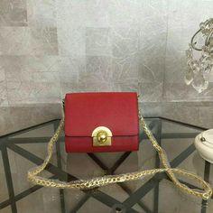 New Prada 2016,Prada Small Shoulder Bag 1BH007 Red Saffiano Leather