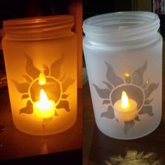 "I made ""lantern"" jars from Tangled! : disney"
