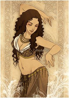 "Oriental Dance, illustration / Danza Orientale, Danza del Ventre, illustrazione - ""Sands flower"", Art by Orpheelin on deviantART"