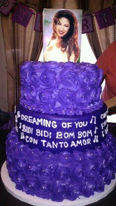 what an awesome cake!..I don't know if I should pin it on my Purple board, Delicious board, or my Selena board!!