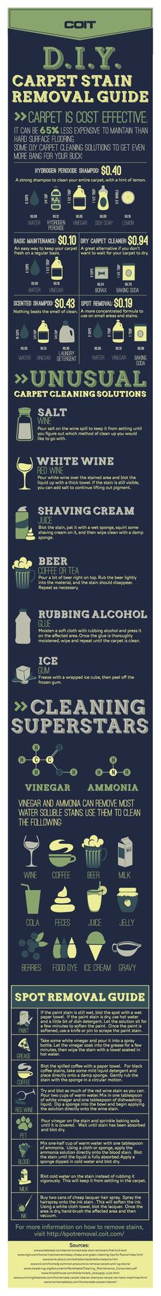 All you need to know about carpet cleaning solutions!