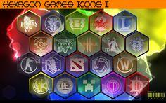 Hexagon Games Icons vol. 1 by xmilek.deviantart.com on @deviantART