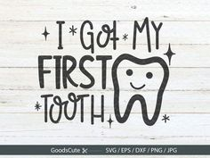 Tooth Clipart, Silhouette Cameo Software, Dental Art, First Tooth, Sublimation Paper, Machine Design, Print And Cut, Baby Pictures, I Got This