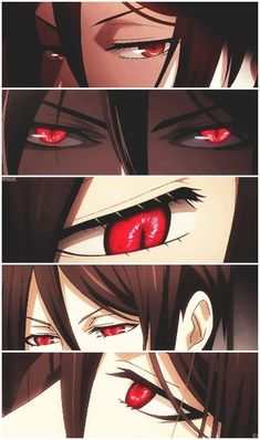 Thous beautiful eyes of MY bassy/sebby-chan~ Grell~