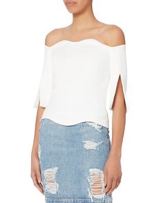 Paper London Florida Ivory Top