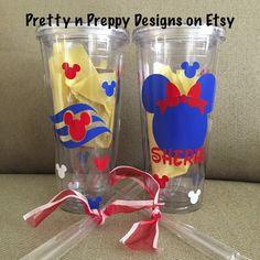 Disney Cruise cup Mickey and Minnie by PrettynPreppyDesigns