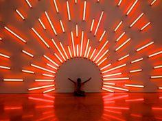 PAMM - Mark Handforth - Western Sun, 2004 | da miamism Neon Lighting, Lighting Design, Custom Neon, Light Art Installation, Nightclub Design, Interactive Walls, Bacardi, Signage Design, Event Design