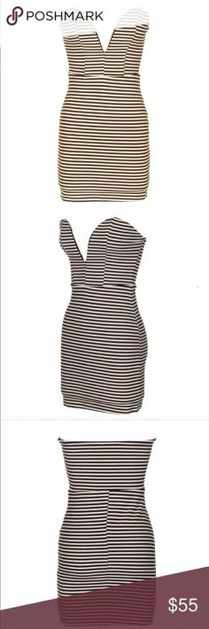 NWT Fashionomics Strapless Striped Dress - Mercari: BUY & SELL THINGS YOU LOVE