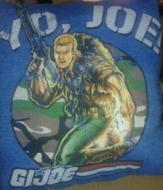 G.I. Joe t shirt pillow.  #yojoe #gijoe #pillow #bellaslittlebowtique #forsale