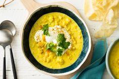 Cauliflower dhal soup