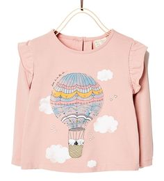 PRINTED TOP-T-SHIRTS-BABY GIRL | 3 months-3 years-KIDS | ZARA United States