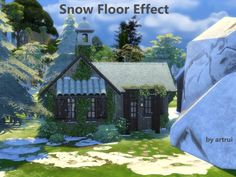Snow floor effect by artrui at Mod The Sims via Sims 4 Updates