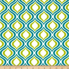 Richloom Solarium Outdoor Zinger Peacock from @fabricdotcom  This outdoor solarium fabric will withstand 500 hours sunlight and has 10,000 double rubs, perfect fabric for porches, patios, deck side, pool side and boat side.  *Special Washing Instructions: Always use mild soap with cool to lukewarm water. For deep-cleaning, use a sponge or fine-bristle brush. Colors include teal, kiwi and white.