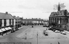 Bishop Auckland Market place 1955