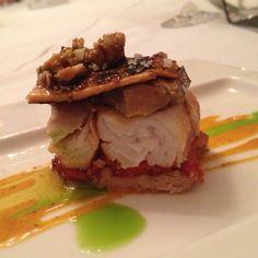 Foie-Robalo ahumado y mamey #gastronomia Chef Pedro Martín Restaurante El Secreto