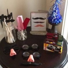 Mustache themed party- photo booth props