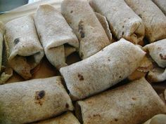 Freezer Breakfast Burritos - reheat in the oven to warm and crisp up for 10-20 minutes.