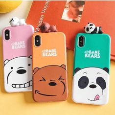 Panda + polar + pardo : meta com as BFFs no futuro ksksks (eu seria o panda é claro ksks) Cool Iphone Cases, Cute Phone Cases, Capas Iphone 6, Friends Phone Case, Disney Phone Cases, Cute Slippers, We Bear, Bear Wallpaper, Cute School Supplies