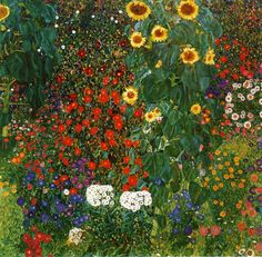 Gustav Klimt Farm Garden with Sunflowers art painting for sale; Shop your favorite Gustav Klimt Farm Garden with Sunflowers painting on canvas or frame at discount price. Art Klimt, Art Nouveau, Art Encadrée, Framed Art Prints, Canvas Prints, Klimt Prints, Framed Wall, Framed Canvas, Wall Décor