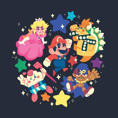 Mario and Friends 1996 Super Mario Bros, Geno Super Mario Rpg, Mundo Super Mario, Super Mario World, Geeky Wallpaper, Cartoon Wallpaper, Donkey Kong, Metroid, Simple Anime