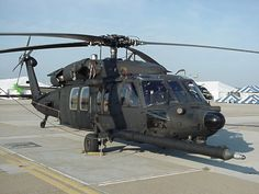Stealth MH 60 Black Hawk | The MH-60 stealth variant of a standard Black Hawk helicopter