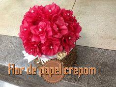 Resultado de imagem para flor de crepom