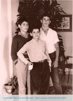 The Netanyahu Brothers . Left to right: Bibi, Iddo, and Yoni Netanyahu Palestine, Naher Osten, Jewish History, Israel History, Benjamin Netanyahu, My Heritage, Judaism, Role Models, How To Look Better