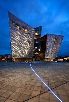 Titanic Museum in Belfast, Northern Ireland.