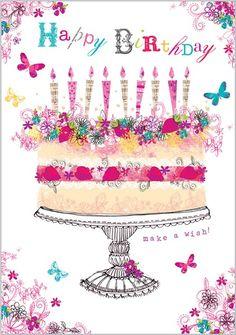 pastel con velas