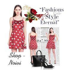 Fashion Peach Hearts Print Strap Dress