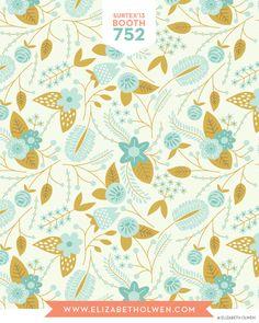 Elizabeth Olwen - Blue Floral
