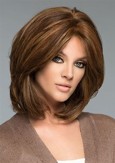 The Medi-Tach human hair wig by Wig Pro. The perfect medical hair loss wig for women. This silk lined hand-tied monofilament top construction style has a medical application. Older Women Hairstyles, Wig Hairstyles, Hairstyles Videos, Pretty Hairstyles, Medium Hair Styles, Curly Hair Styles, Latest Short Haircuts, Short Hair Cuts For Women, Ombre Hair Color