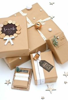 Brown Paper Packages Tied Up with String - super gift wrap ideas for the crafty-minded