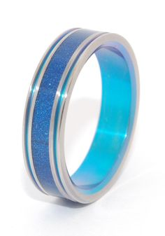 Love's Fountain   Custom Titanium Rings by Minter & Richter #titaniumrings #uniqueweddingring #weddingring