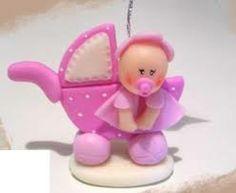 souvenirs para baby shower en porcelana fria - Buscar con Google